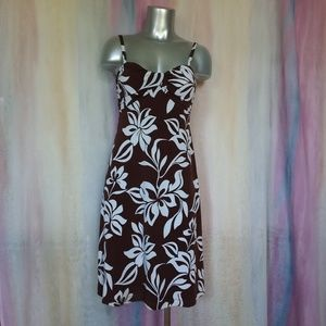 Tommy Bahama Brown & White Sundress